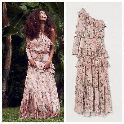 Johanna Ortiz x H&M One Shoulder Pink Satin Dress - S