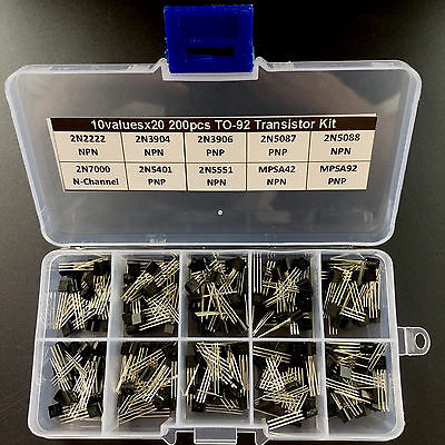 10values X20 To-92 Transistor Assortment Assorted Kit 2n2907 2n3906 Mpsa42etc