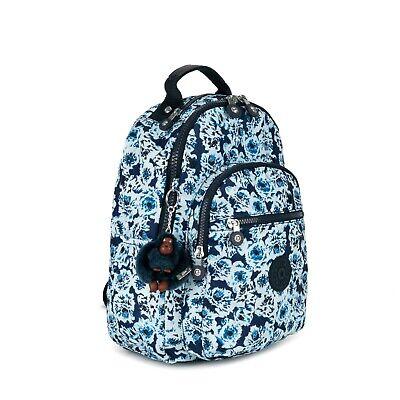 Kipling SEOUL GO SMALL Printed Backpack Roaming Roses NWT covid 19 (Kipling Print Backpack coronavirus)