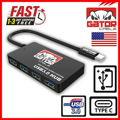 USB-C Type-C 3.1 Hub Adapter 4 USB 3.0 Ports Charger Data Sync for Macbook Pro