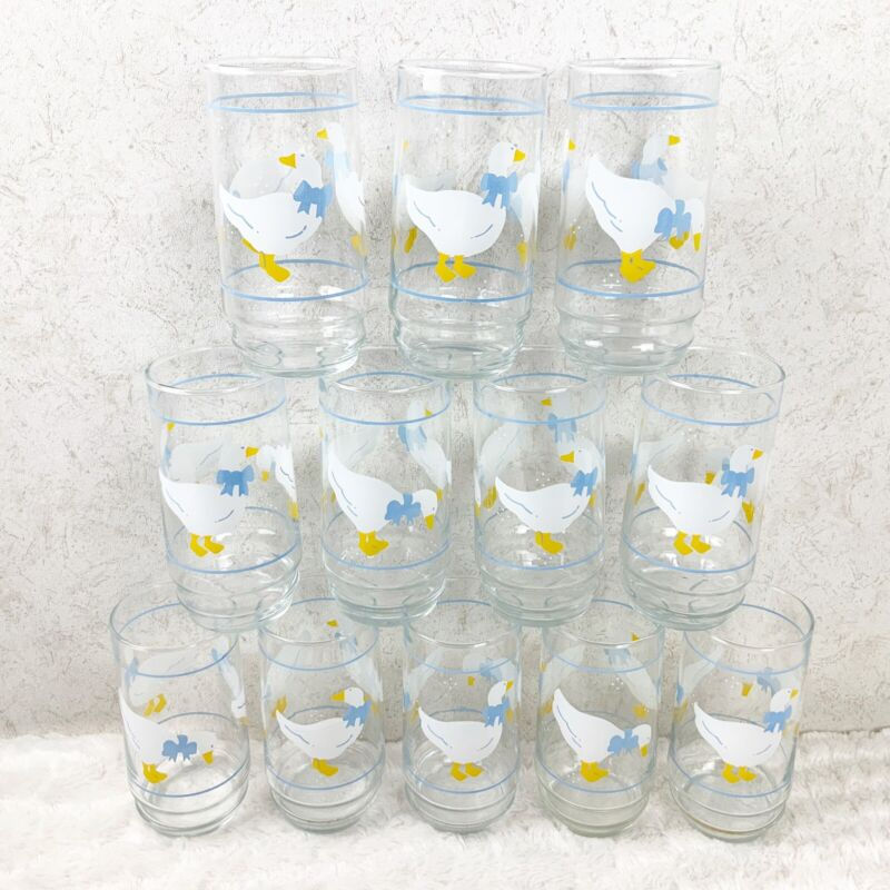 VTG Indiana Glass Country Goose Set Of 12 Drinking Glasses 16oz In Box Farmhouse