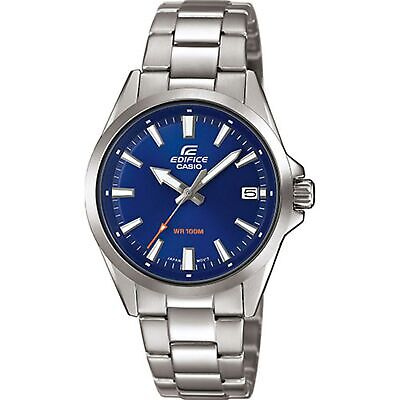 Casio Edifice Quartz Blue Dial Silver Steel Bracelet Men's Watch EFV-110D-2AVUEF