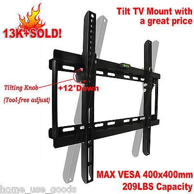 "Tilt TV Wall Mount Bracket Slim 23"" 28 30 32 40 42 48 50 55"" inch LED LCD Plasma"