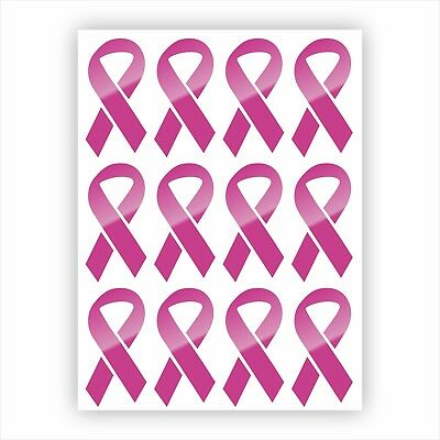 Labels Stickers Decals - Pink Ribbon Vinyl Decals / Stickers / Bulk Labels Breast Cancer Awareness