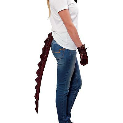 Dragon Tail Costume (Dragon Costume Accessory Tail Red Scales Smaug Game of Thrones Fantasy)