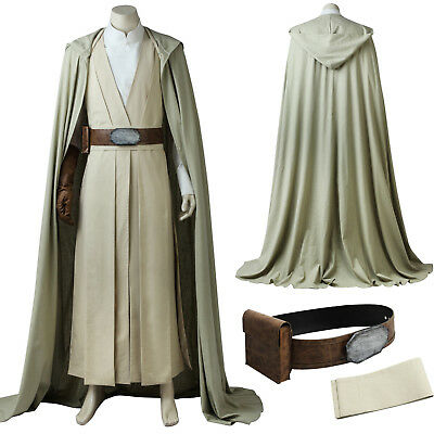 Star Wars 8:The Last Jedi Luke skywalker Cosplay Costume Custom Made Halloween