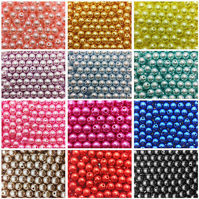 Plastic Beads ( Pearl Round Spacer Loose Plastic Beads Wholesale 4mm / 6mm / 8mm)