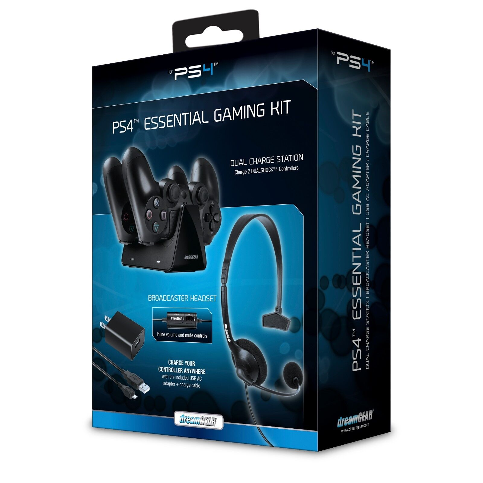 Dreamgear Essentials Gaming Starter Kit For Ps4 Headset