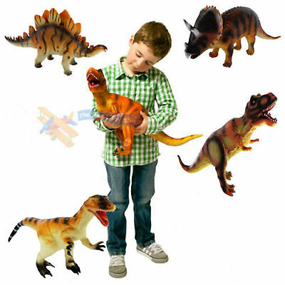 36cm Large Soft Foam Rubber Stuffed Dinosaur Play Toy Animals Action Figures
