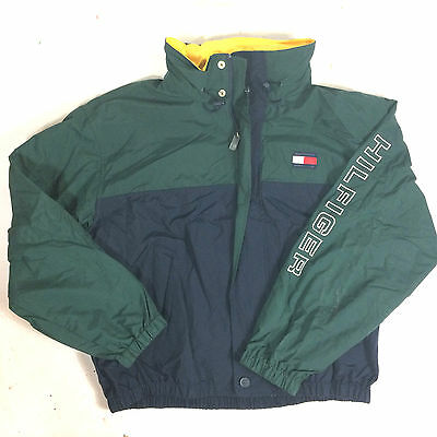 Vtg 90s Tommy Hilfiger Color Block Racing Cycling Kayak Windbreaker CoAt JaCkEt