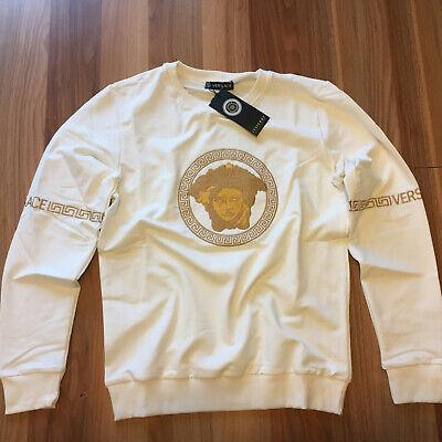 VERSACE White Color Long Sleeve Cotton  Shirt Size XL