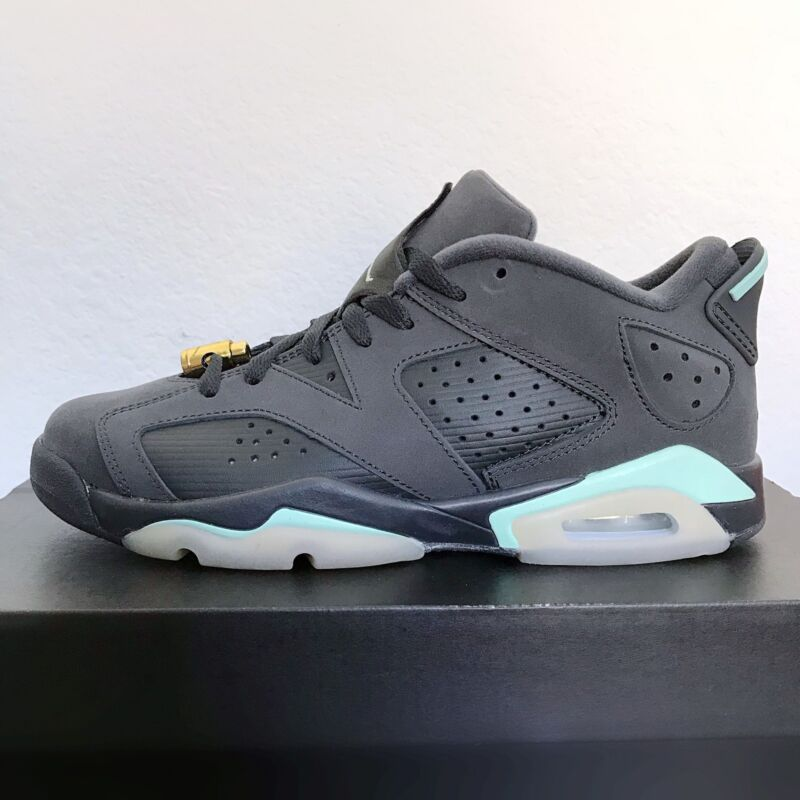 Defected Nike Air Jordan 6 Retro Low GG 768878-015 Anthracite Mint Form Youth 6Y