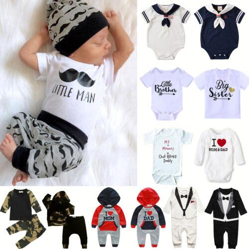 Neugeborene Baby Mädchen Jungen Overall Romper Jumpsuit Kleidung Party Strampler