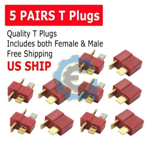 Ultra T-Plug 10 pcs Male/Female Deans Connectors Lipo FAST USA SHIP
