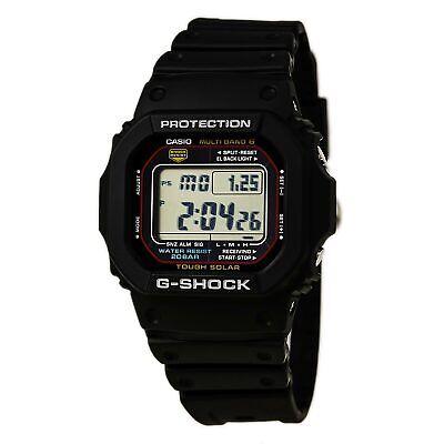 Casio Men's Watch G-Shock Multi-Band 6 Tough Solar Black Strap GWM5610-1