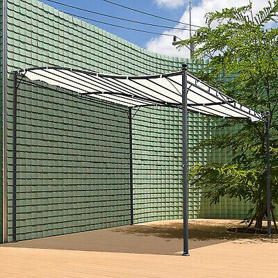 Pérgola Gazebo Toldo de Pared Jardín Patio Terraza Pabellón Cenador 3x3x2.5m