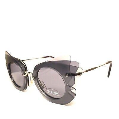 MIU MIU Womens SMU02S VA4-3C2 Butterfly Cat Eye Sunglasses Gray (MSRP $430)