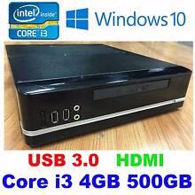 Core i3 3.0Ghz 4GB 500GB DVDRW USB 3.0 HDMI Port Windows 10 Compu Nunawading Whitehorse Area Preview