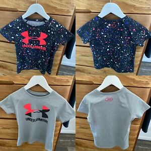 2 x Girl's Size 7 Under Armour Active Wear Tops