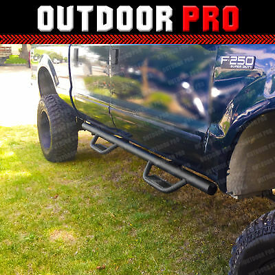 Fit 99-14 Ford F-250 SD Crew Cab H Style Running Boards Nerf Bars Side Step