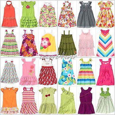 NWT GYMBOREE Summer Sun Dress 3 4 5 6 7 8 9 10 12 yrs Choose Color Pattern
