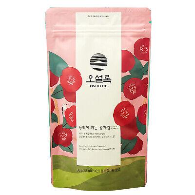 Osulloc Camellia Flower Tea 20 Tea Bags Camellia Flower Flavor