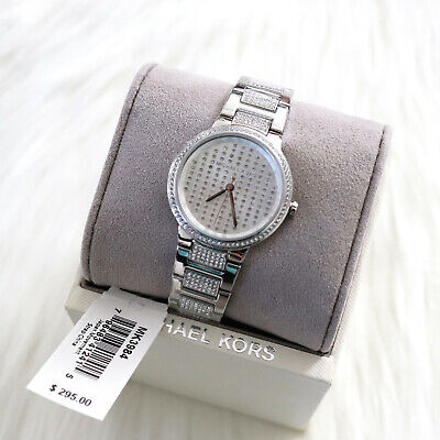 Michael Kors MK3984 Womens Gabbi Pave Crystal Glitz Bracelet Watch New With Tag
