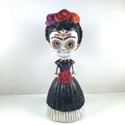 "Frida Kahlo 7"" Handmade Day Of The Dead Mexico Resin Figure"