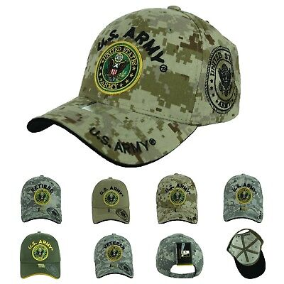 US Army Baseball Cap USA Flag Army Veteran Retired Hat U.S. Army Caps Operator