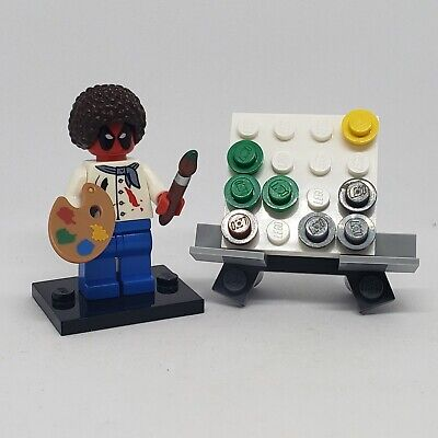 authentic LEGO minifigure pieces Deadpool Bob Ross MOC artist real creation