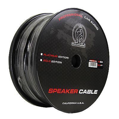 Bullz Audio 12-Gauge Car Pro Black Speaker Wire Cable Spool 200 Ft | BGES12.200