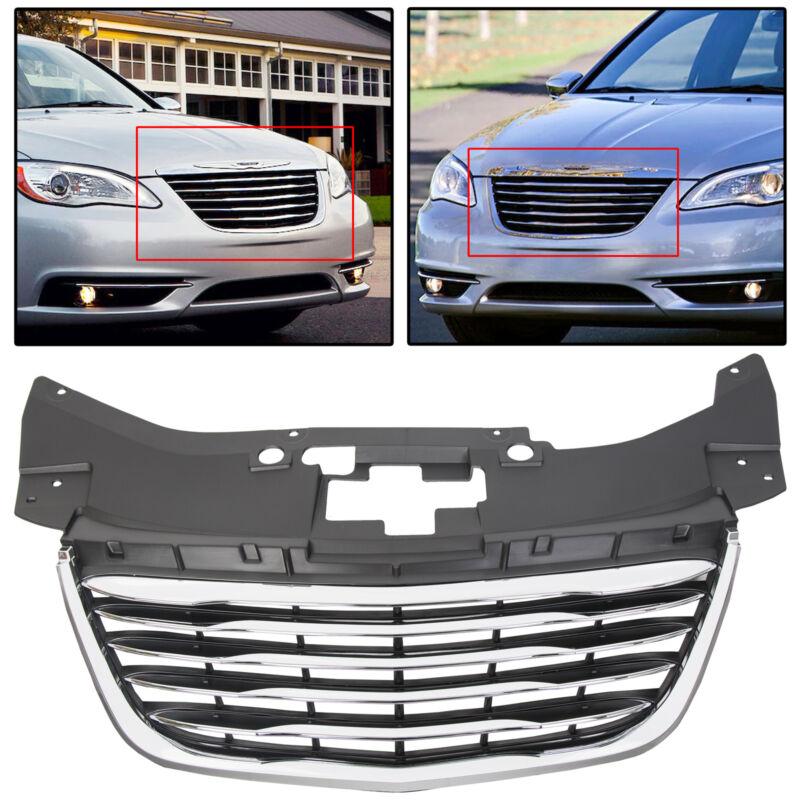 For 2011-2014 Chrysler 200 Chrome Front Radiator Hood Grille Grill 68082050AE