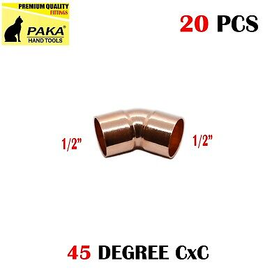 20-pack 12 Copper 45 Degree Elbow Fitting Cxc Certified Lead Free