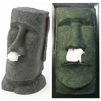 Kosmetiktücherbox Kosmetikbox Kosmetiktuchspender Kosmetiktuchbox Big Moai Kopf (Big Spender)