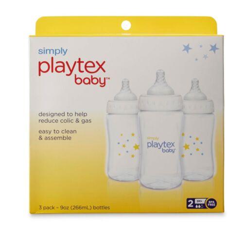 Simply Playtex Baby Bottle, BPA Free, 3M+ 9 oz, 3 Pack