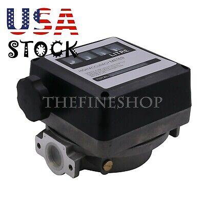 4 Digital Gasoline Petrol Oil Flow Meter Counter 20-120lmin For Diesel -us
