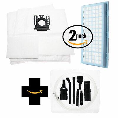 4 Vacuum Bags, 4 Micro & 2 HEPA Filters for Miele Titan, S2 w/ Micro Kit