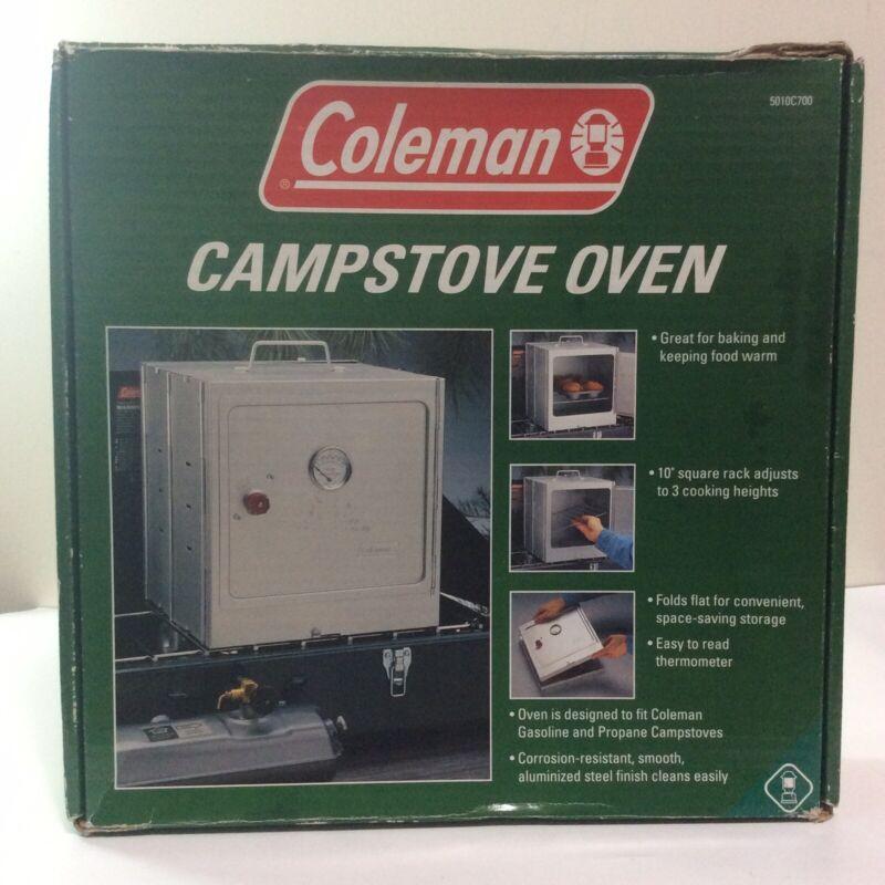 """Vintage Coleman Folding Campstove Oven Model 5010C700 Square 10"""" Rack Bake Warm"""