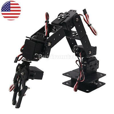 Aluminium Robot 6 DOF Arm Mechanical Robotic Arm Clamp Claw Mount Kit US-A](Robot Kit)