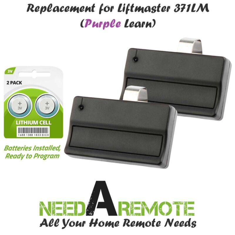 2 Replacement for Liftmaster 371LM Car Garage Door Remote Opener