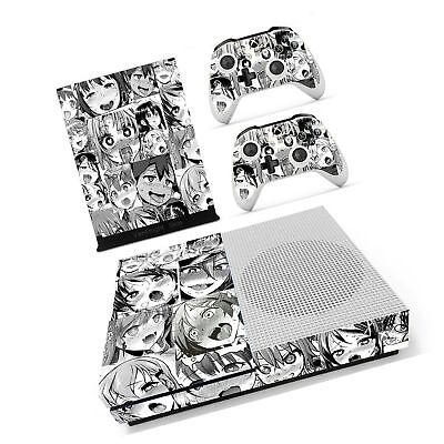 Vanknight Xbox One S Slim (XB1 S) Console 2 Controllers Remote Skin Set Anime...