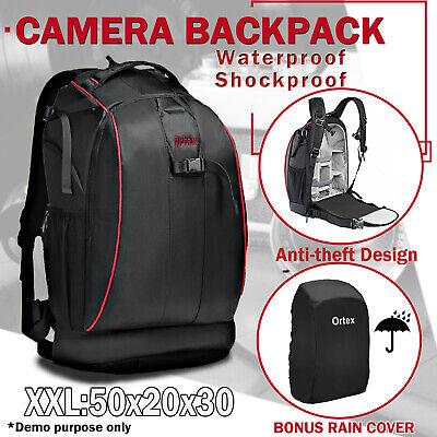 Large SLR DSLR Camera Backpack Rucksack Laptop Bag for Nikon Canon Waterproof