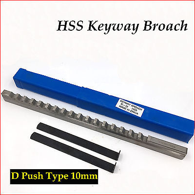 Hss Keyway Broach 10mm D Push-type Metric Size Cnc Machine Tool