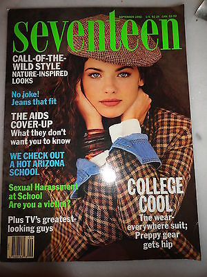 Seventeen 9/1992 Kate Moss Vanessa Paradis Luisa Norbis Elizabeth Berkley prom