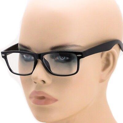 Men's Women RETRO VINTAGE NERD Style Clear Lens EYE GLASSES Black Fashion Frame (Nerd Style Men)