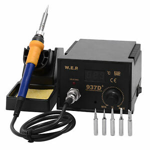 60W-Soldering-Iron-Station-6-Tips-Lead-Free-Kit-ESD-Safe-Digital-Display