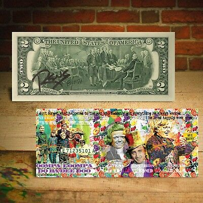 WILLY WONKA $2 US Bill - SIGNED by RENCY - Numbered of 171 - Happy Ever After