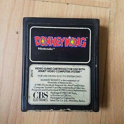 Donkey Kong - Atari 2600 VCS Colour Label CBS Nintendo - Tested - Cartridge Only