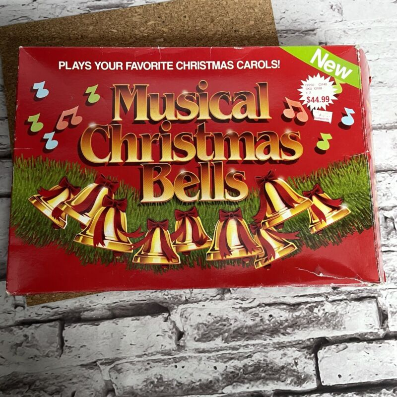 Vintage 1990 Musical Christmas Bells Listen to 9 Bells Plays 12 Carols Tested