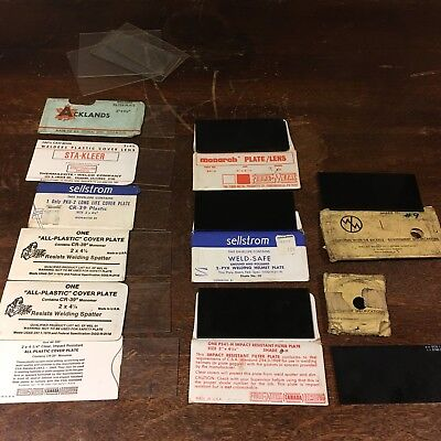 Lot Of Welding Glass Plates Filters Vtg Sellstrom Monarch Acklands Welsh Used